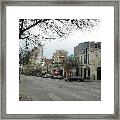 6th Street In Winter Framed Print by James Granberry