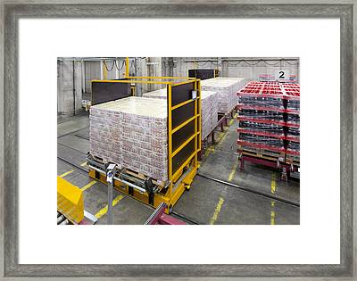 A Modern Brewery Warehouse In Estonia Framed Print by Jaak Nilson