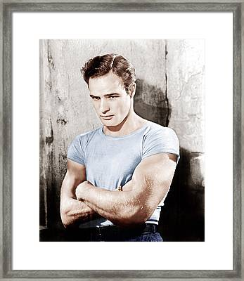 A Streetcar Named Desire, Marlon Framed Print by Everett