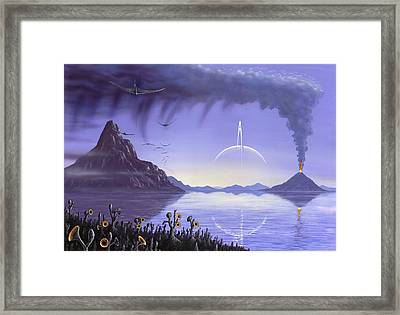 Alien Landscape, Artwork Framed Print