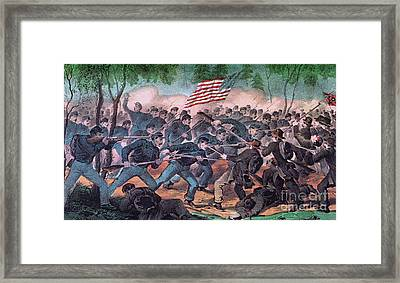 American Civil War, Battle Framed Print by Photo Researchers