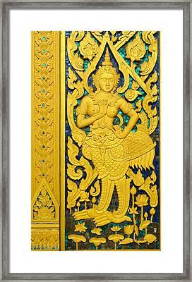 Antique Thai Temple Mural Patterns Framed Print by Kanoksak Detboon