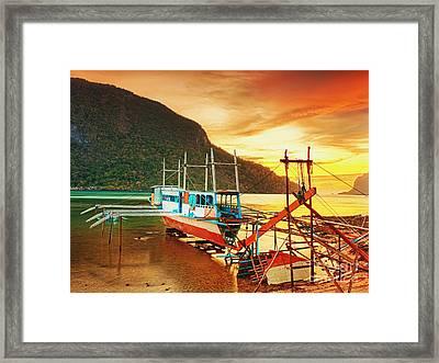 Boat Framed Print by MotHaiBaPhoto Prints