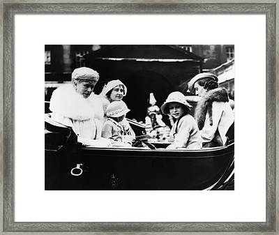 British Royal Family. From Left British Framed Print