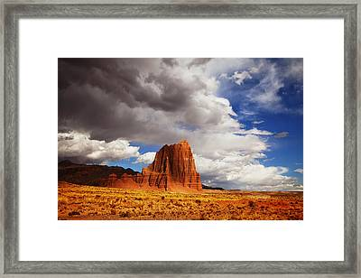 Capitol Reef National Park Catherdal Valley Framed Print by Mark Smith