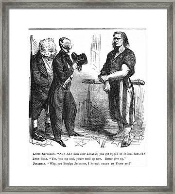 Civil War Cartoon, 1861 Framed Print