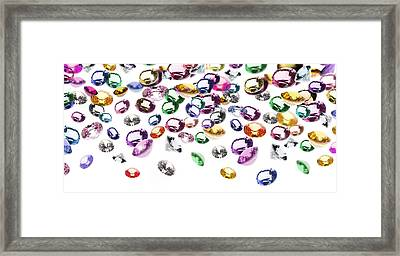 Colorful Gems Framed Print by Setsiri Silapasuwanchai