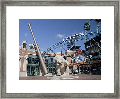 Comerica Park Framed Print by Cindy Lindow
