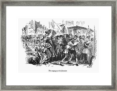 Dickens: Two Cities Framed Print