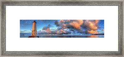 Frankfort Michigan Lighthouse Framed Print by Twenty Two North Photography