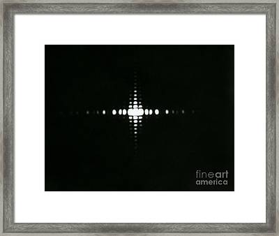Fraunhofer Diffraction Framed Print by Omikron