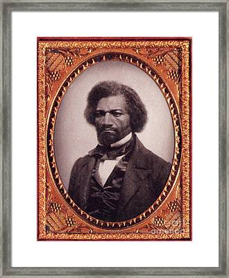 Frederick Douglass African-american Framed Print by Photo Researchers