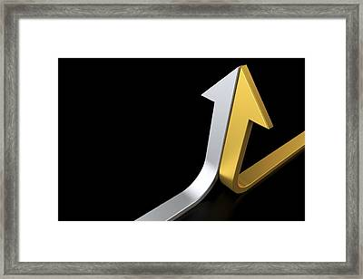 Golden And Silver Arrows Framed Print