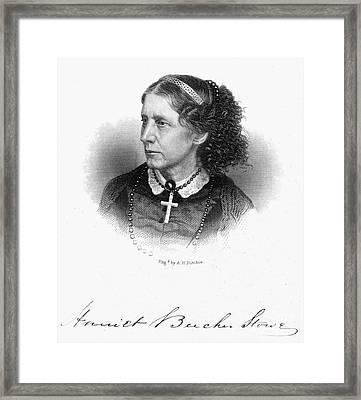 Harriet Beecher Stowe Framed Print by Granger
