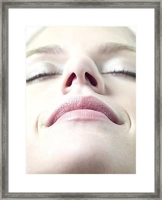 Healthy Woman's Face Framed Print