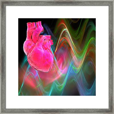 Human Heart, Artwork Framed Print