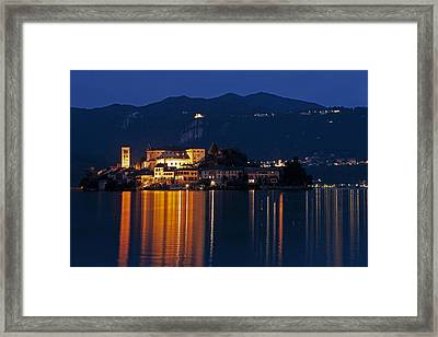 Island Of San Giulio Framed Print by Joana Kruse
