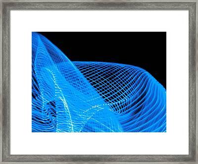 Light Patterns Framed Print