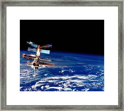 Mir Space Station Framed Print by Nasa