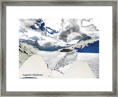 Norway Space Landscape Framed Print by Augusta Stylianou