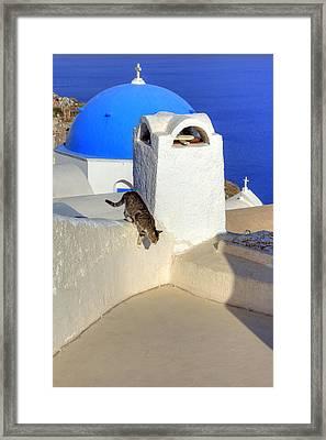Oia - Santorini Framed Print by Joana Kruse