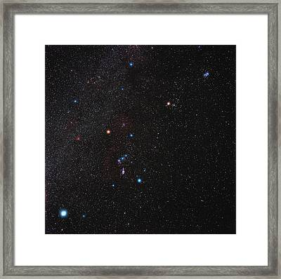 Orion Constellation Framed Print by Eckhard Slawik