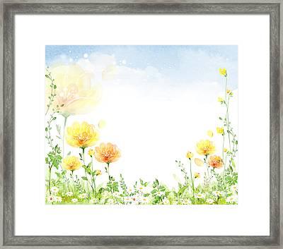 Peaceful Flower Framed Print by Eastnine Inc.