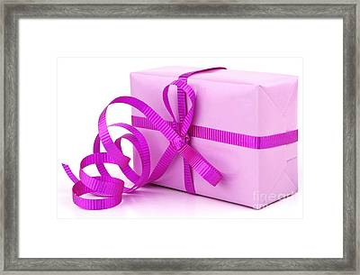 Pink Gift Framed Print by Blink Images