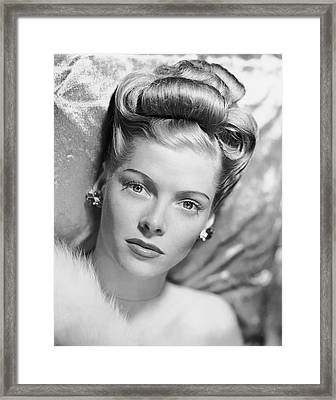 Portrait Of Woman Framed Print by George Marks