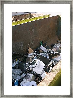 Recycling Centre Framed Print by Mark Williamson
