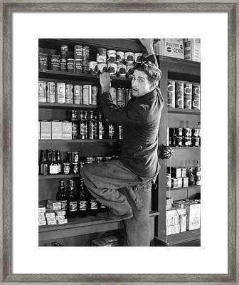 Silent Film Still: Stores Framed Print by Granger