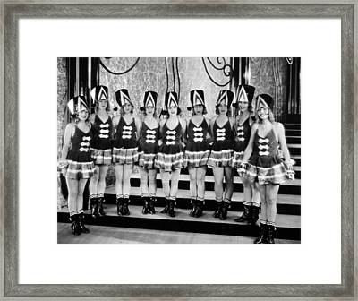 Silent Still: Showgirls Framed Print by Granger