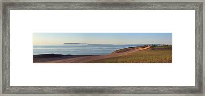 Sleeping Bear Dunes Panorama Framed Print by Twenty Two North Photography