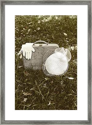 Suitcase Framed Print by Joana Kruse