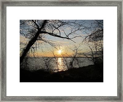 Sunset Chesapeake Bay Framed Print by Valia Bradshaw