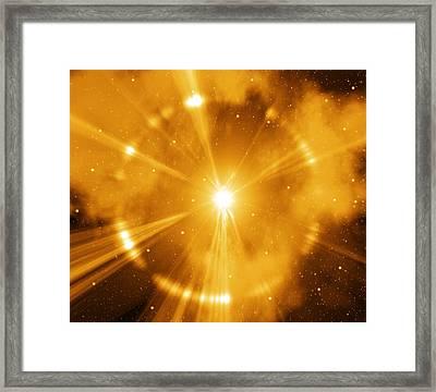 Supernova Explosion, Artwork Framed Print by Mehau Kulyk