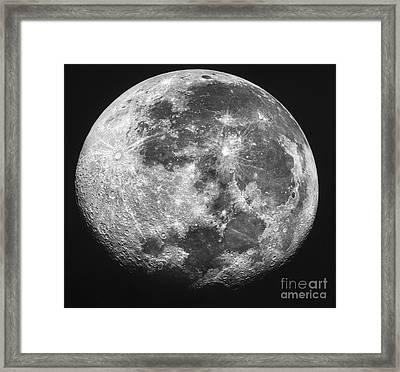The Moon Framed Print by Stocktrek Images