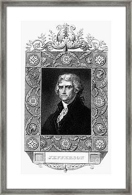 Thomas Jefferson Framed Print by Granger