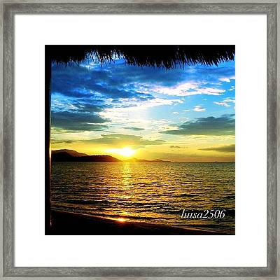 Tropical Sunset Framed Print by Luisa Azzolini