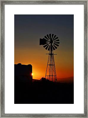 Framed Print featuring the photograph Water Pump Windmill by Werner Lehmann