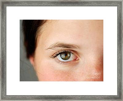 Womans Eye Framed Print by Photo Researchers, Inc.