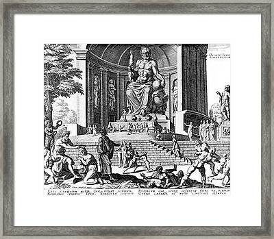 7 Wonders Of The World, Zeus Of Pheidias Framed Print by Photo Researchers