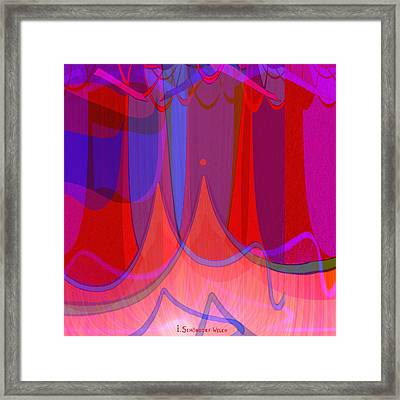 702 - The Towers Framed Print by Irmgard Schoendorf Welch