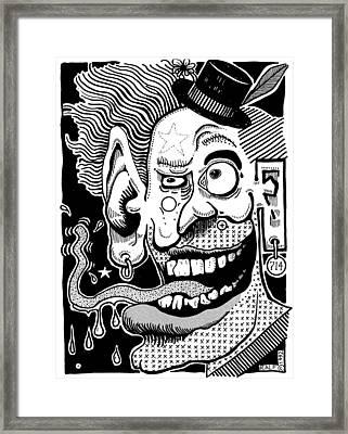 714 Framed Print