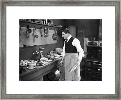Silent Film Still Framed Print