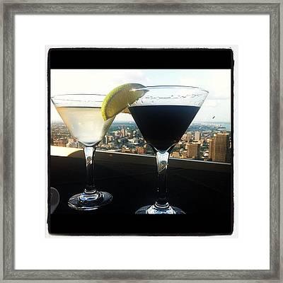 737 Martini Framed Print