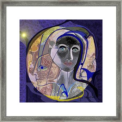 744 - Purple Woman Framed Print by Irmgard Schoendorf Welch
