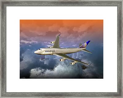 747-400 Uao 01 Framed Print