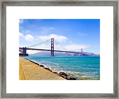 75 Years - Golden Gate - San Francisco Framed Print
