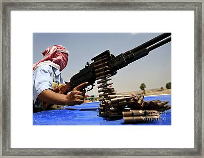 7.62 Mm Rounds Lie On The Truck Of An Framed Print by Stocktrek Images
